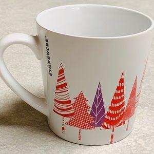 Accessories - 2017 Starbucks mug - red / purple trees